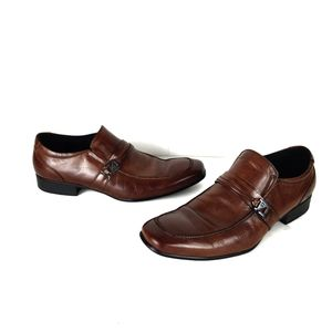 Kenneth Cole Reaction Mens Shoes 10 Loafers Brown
